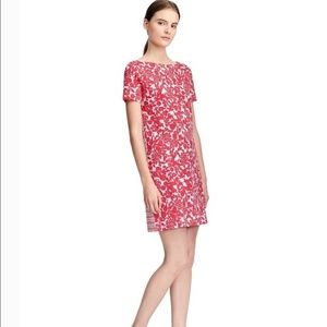 Tory Burch | Elisabeth Red White Floral Midi Dress